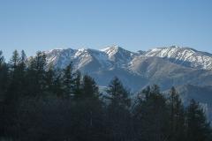 Une vue depuis le col d'Ares