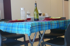 Une table pour un repas à 4
