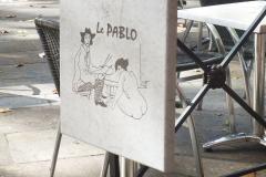 Table du café Le Pablo